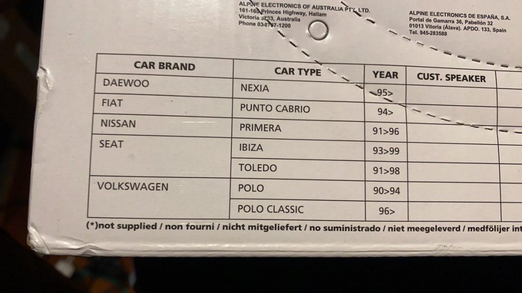 Lista kompatybilności, o Porsche zapomnieli napisać :)