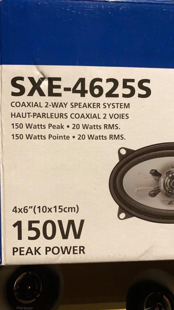 Głośniki Apline SXE-4625S.